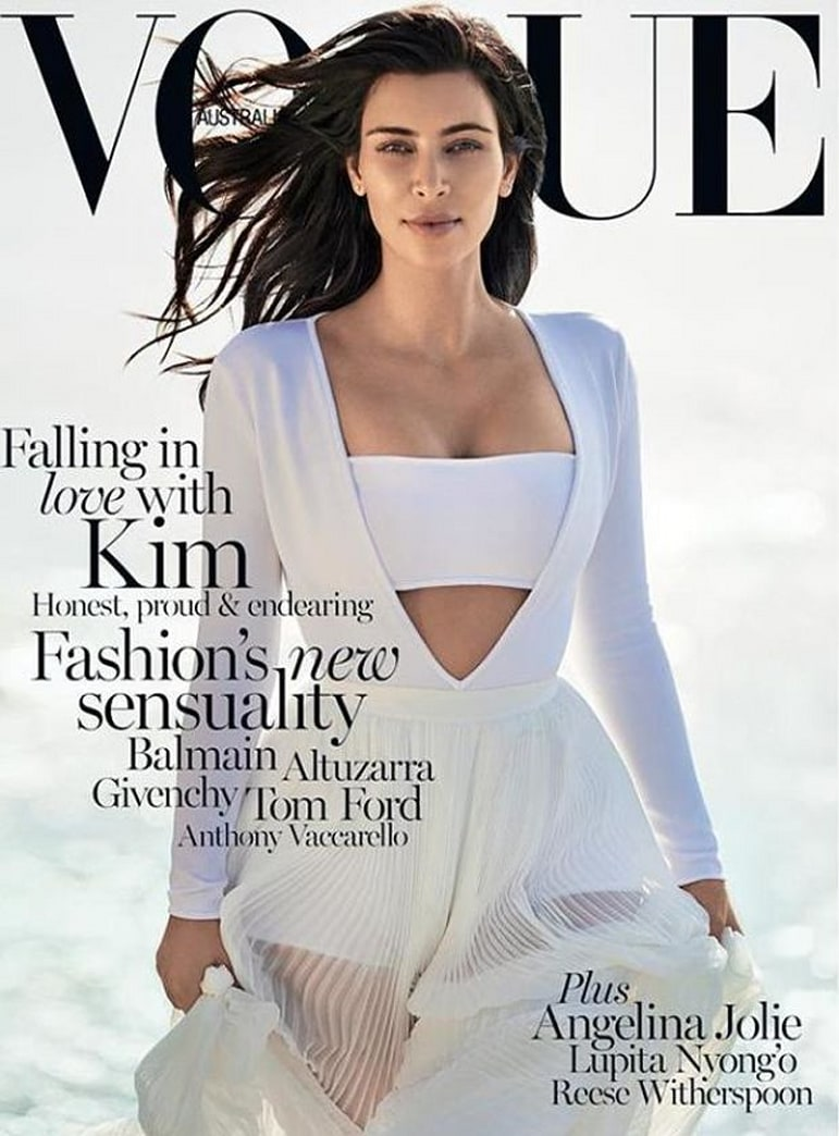 Kim Kardashian gets her first solo VOGUE cover