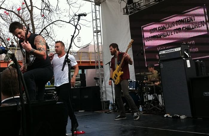 Seen@GDC: Dillinger Escape Plan tears through the Homefront rally