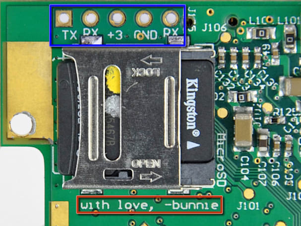 Chumby One gets the iFixit treatment, greets world with a cute hidden message