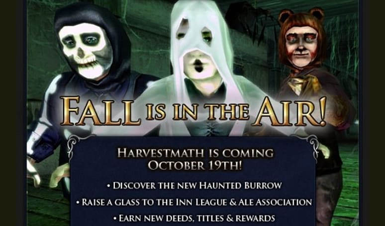 Harvestmath, Hobbits and hauntings: LotRO's fall festival starts tomorrow