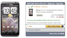 HTC Thunderbolt drops to $130 for new Verizon customers at Amazon over the weekend