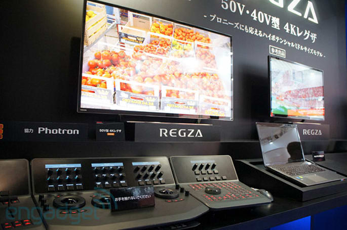 Toshiba's concept REGZA 40V and 50V 4K HDTVs double as pro-grade reference monitors