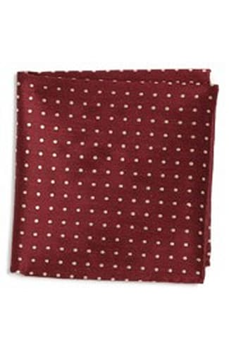 Dot Silk & Linen Pocket Square
