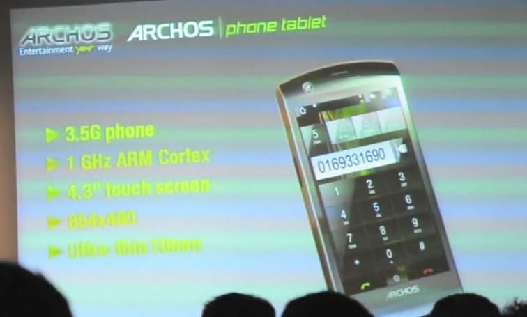 Archos Phone Tablet shelved due to lack of carrier support?