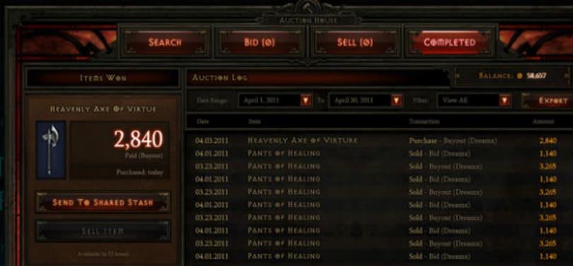 Diablo III Reminder: Auction house closes June 24