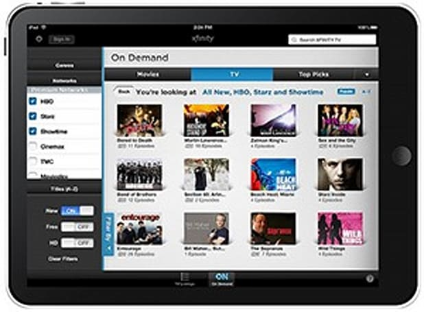 Comcast turns your iPad and iPhone into a sophisticated remote