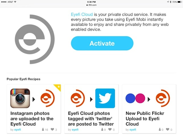 The marriage of Eyefi Cloud and IFTTT is a very fruitful one