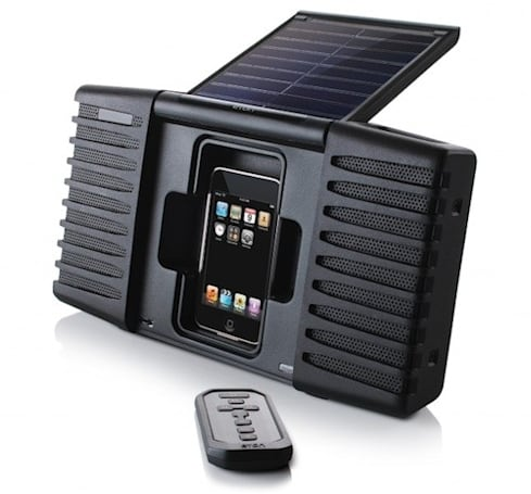 Eton Soulra iPod sound system is rugged, splash-proof and solar-powered