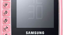 Samsung's B3310 dares to put the number keys exactly where you don't want them