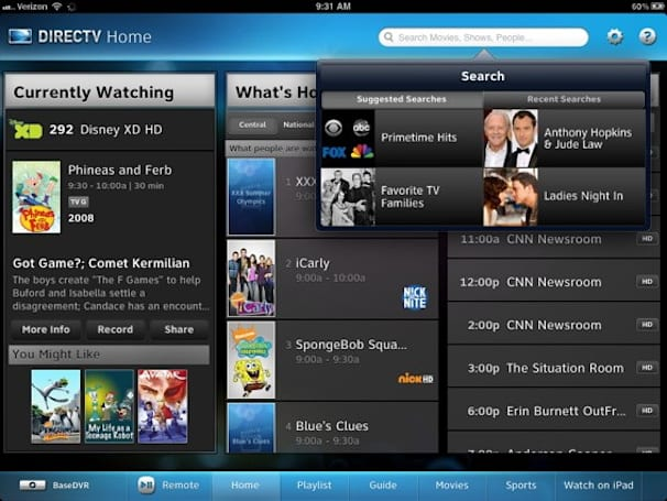 DirecTV quietly updates iPad app, HR34 DVR
