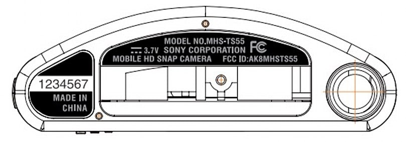 New Sony Bloggie Mobile HD Snap camera gets bowed design, FCC inspection