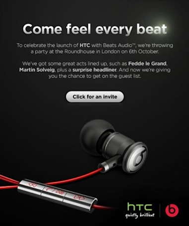 HTC announces its next party, Beats Audio and 'surprise headliner' in attendance