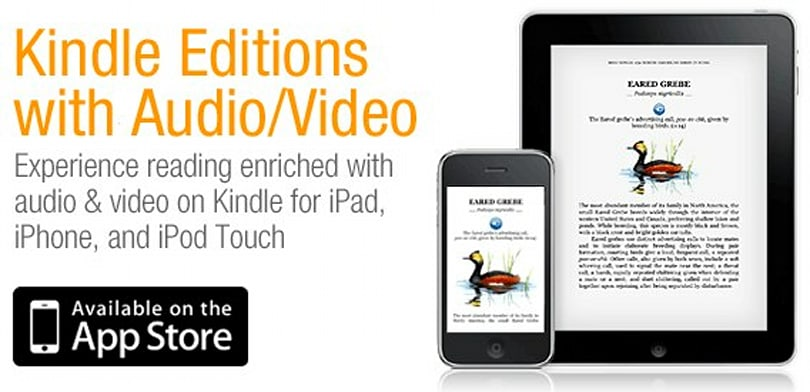 Amazon Kindle Editions with video and audio added to iPhone / iPad app