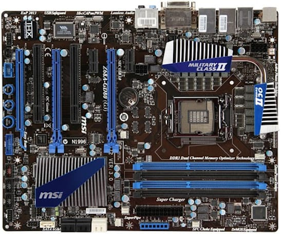 MSI unveils Z68A-GD80 (G3) PCI Express 3.0 motherboard