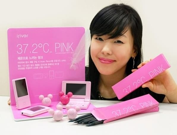 iriver gets in touch with its inner pink