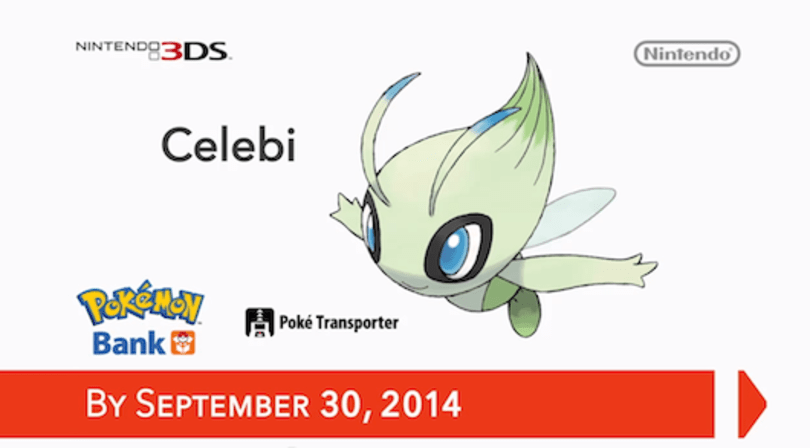 Use Pokemon Bank by September 30, get free Celebi
