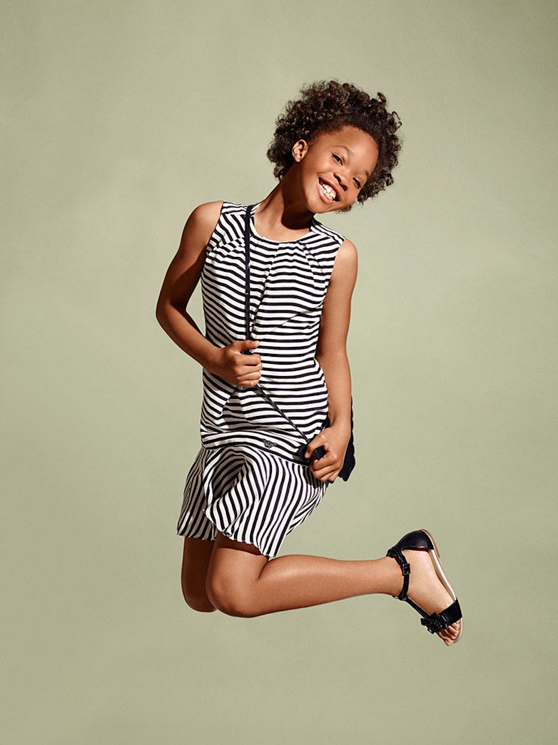 Quvenzhané Wallis is back for another adorable season as the face of Armani Juniors