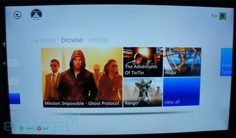 Paramount Movies Ultraviolet app released for Xbox 360