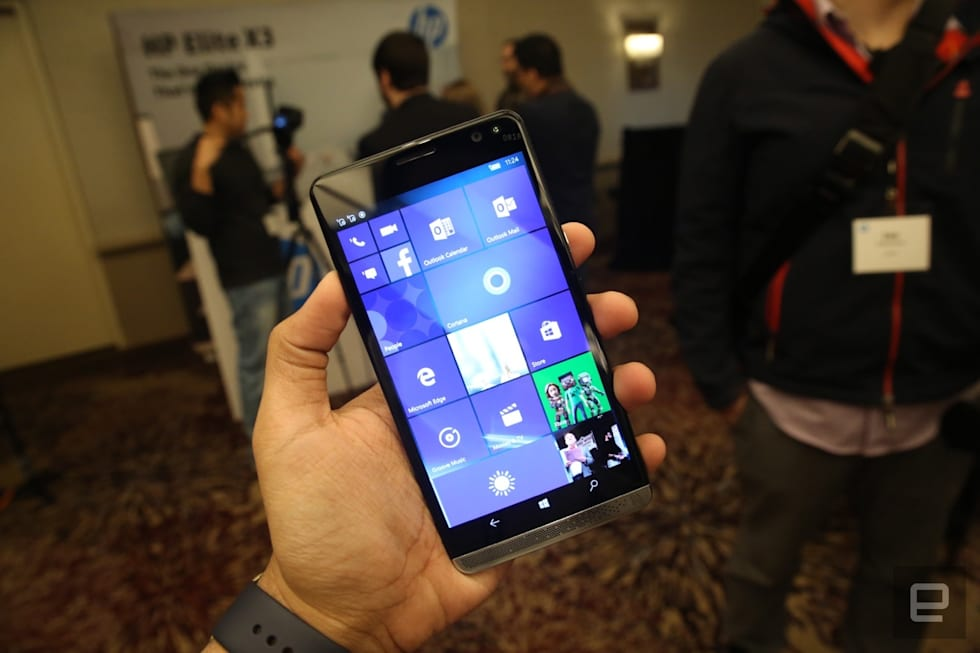 Meet HP's Elite X3, a Windows Phone with a wireless lapdock