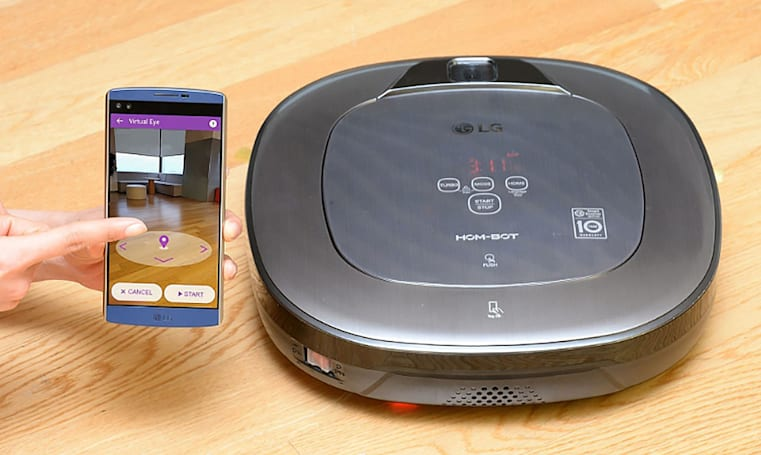 LG's robotic vacuum is both janitor and security guard