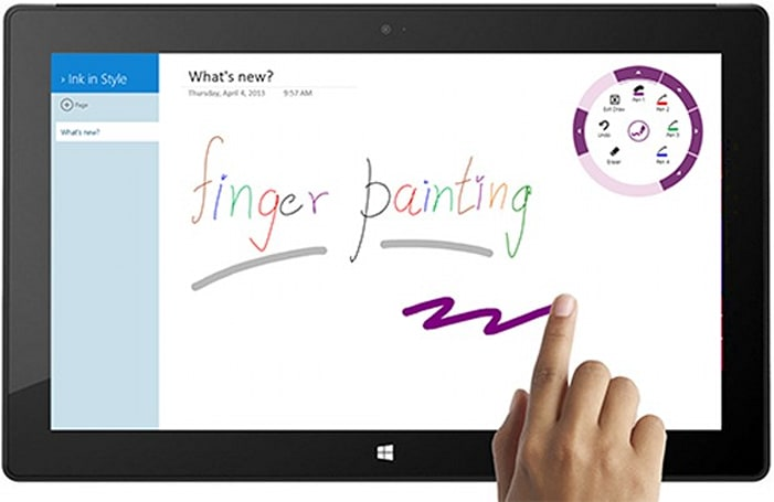 OneNote update for Windows 8 and RT relives our childhood with finger drawing