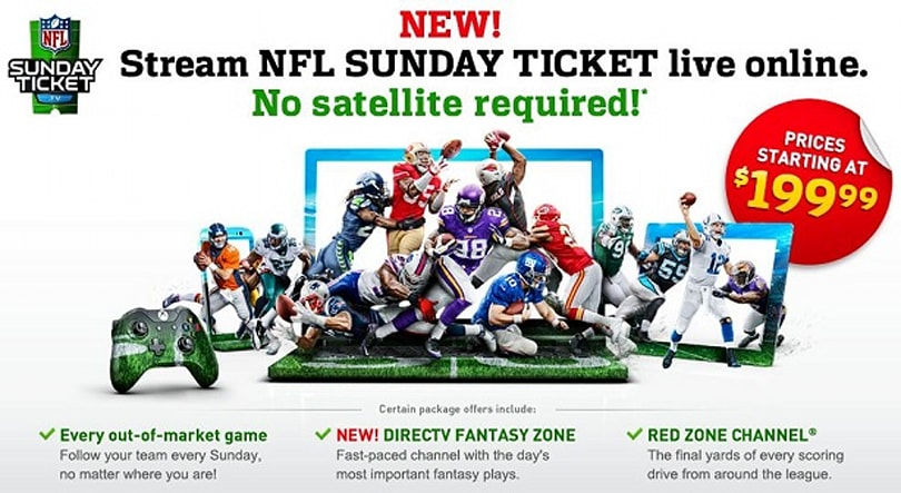 NFL Sunday Ticket streaming on PlayStation, Xbox platforms this season