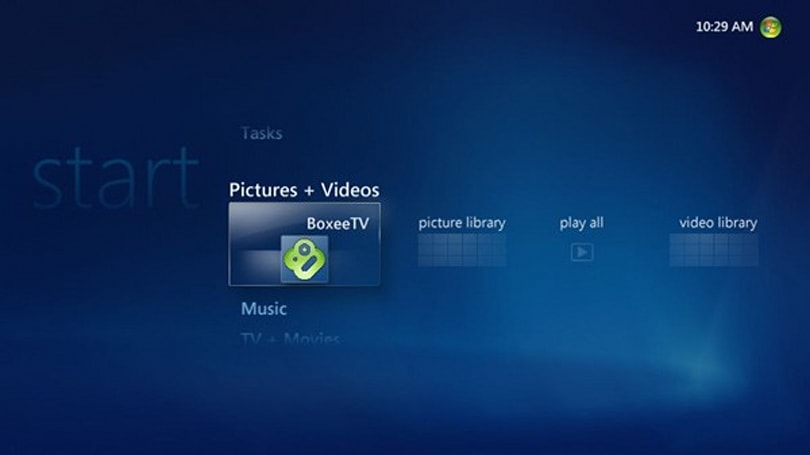 How-to guide explains boxee / Vista Media Center integration