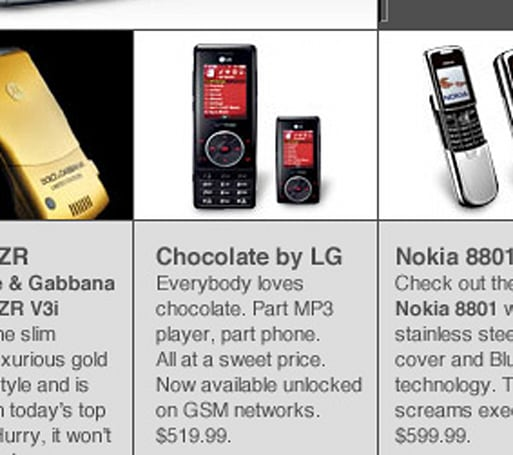 Escape sells GSM Chocolates, reception not included