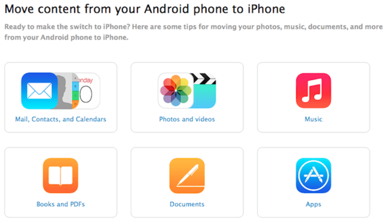 Apple launches page to help Android users migrate to iPhone