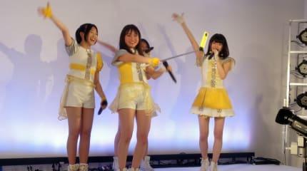 動画:Prizmmy☆の全天球カメラRICOH THETAライブ。ステージから「即出し投影」
