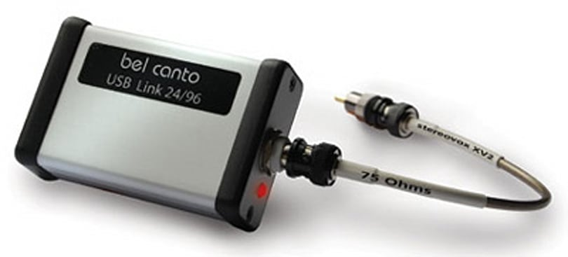 Bel Canto's USB Link 24/96 converts USB audio to S/PDIF