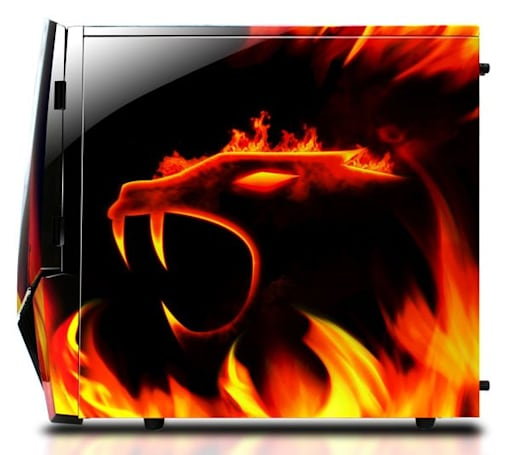 iBUYPOWER's Chimera 2 Gaming System has flames on the outside, liquid cooling on the inside