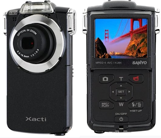Sanyo Xacti VPC-PD2BK 1080p pocket camcorder with 3x optical zoom