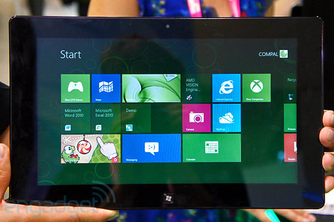 AMD shows off its first Windows 8 concept tablet, we go hands-on (video)