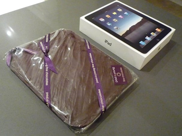 iPad frozen into slab of chocolate, delivered to unsuspecting wife