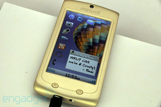 Mirasol showcases 4.1-inch smartphone concept at SID 2011, promises 'converged e-reader' this year (video)