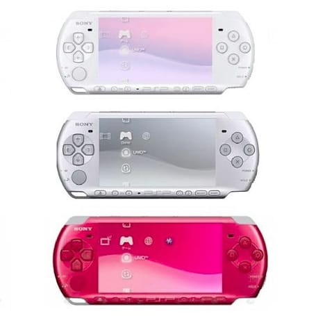 PSP hits Europe in three more colors