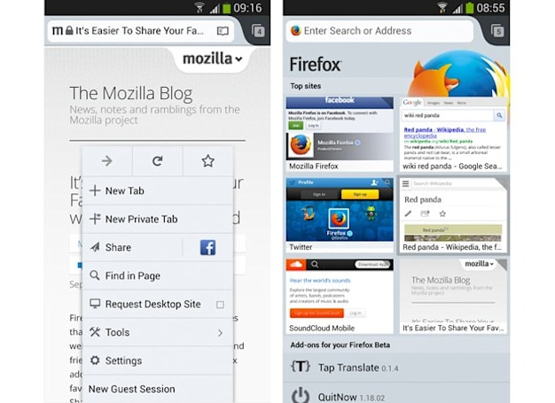 Firefox 25 now official with guest browsing on Android