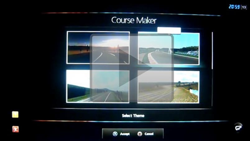 Gran Turismo 5 course creation tools demonstrated on video