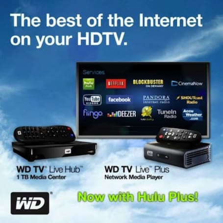 Hulu Plus comes to WD TV Live Plus, Live Hub players