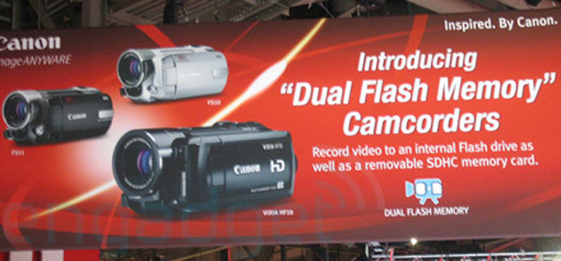 "Canon introducing ""dual flash"" Vixia HF10, F510, and F511 camcorders"