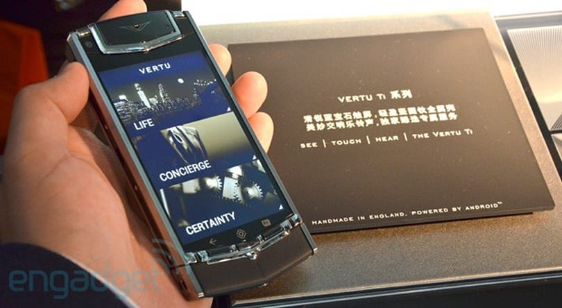 Vertu Ti luxury phone lands in Hong Kong, we go hands-on (video)