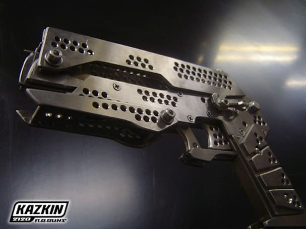 Metal Gear Solid rubber band gun is non-lethal overkill