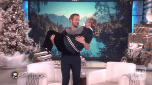 Ellen DeGeneres Gets Swept Off Her Feet