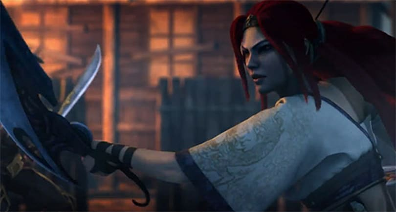 Nariko rescues villagers in footage from Heavenly Sword film