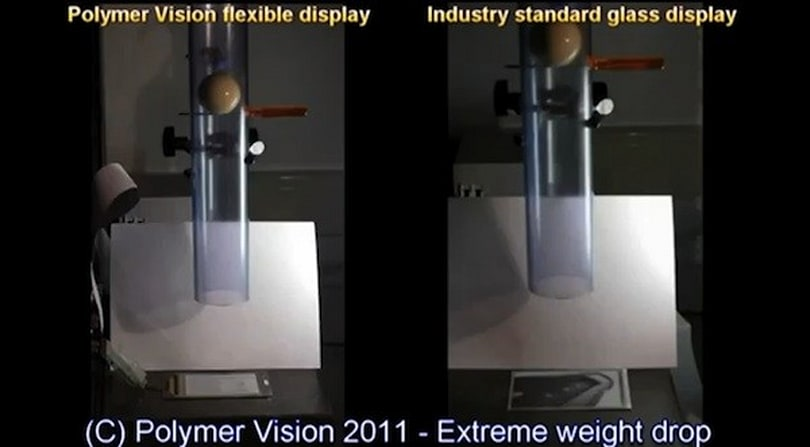 Polymer Vision drops the ball on its flexible display, literally