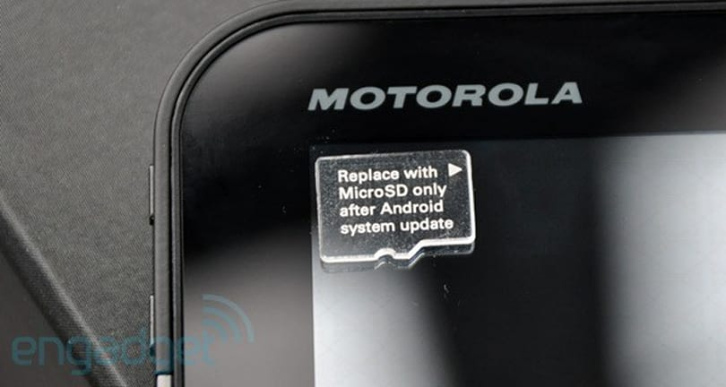 Motorola Xoom sees MicroSD card support enabled in latest version of Tiamat kernel
