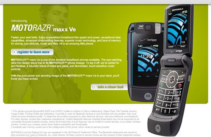 Motorola teases with RAZR maxx Ve site