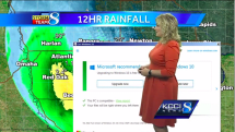 Windows 10 update message interrupts live weather report