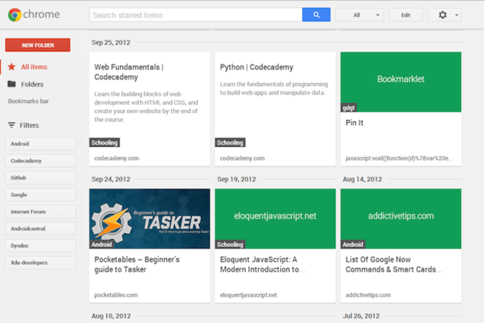 Google Stars bookmarking app makes brief appearance on Chrome Web Store